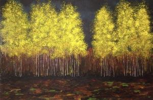Twilight Birches by Alicia Soave-White