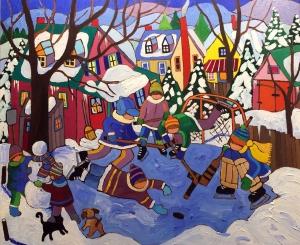 Pond Hockeys by Terry Ananny