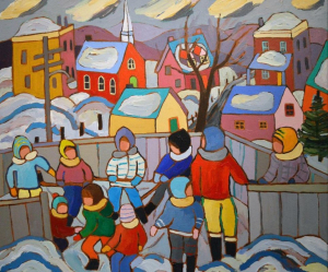 Skaters at the Rink by Terry Ananny