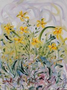 Yellow Summer Garden by Andrew N. Olscher