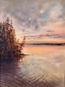 Cottage Life Dawning by Barbara McGuey