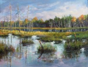 Port Carling Morning by Barbara McGuey