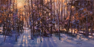 Winter's Glowing Colour by Barbara McGuey