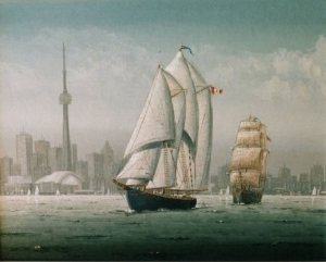 Famous Visitors Bluenose and Bounty by Ben Jensen