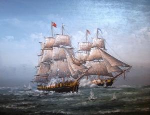 War of 1812 HMS Detroit (US Niagara) by Ben Jensen