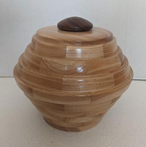 Large Urn (Hickory/Walnut) by Bev Redden