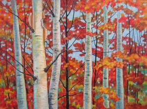 Birch Woods Large by Beverly Sneath