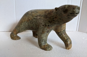 Walking Bear Green by Bill Nasogaluak