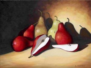 Crimson Pears by Bob Thackeray
