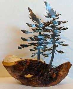 Burl & Double Windswept Pine by Cathy Mark