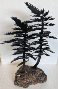 Double Windswept Pine by Cathy Mark