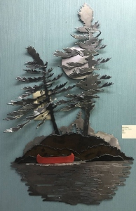 Wall Piece Canoe by Cathy Mark