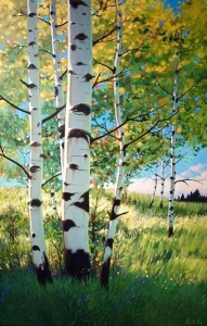 Late Summer Birches by Cyril Cox
