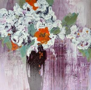 White Flowers by DD Gadjanski