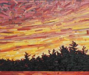 Sunset Lake by David Grieve