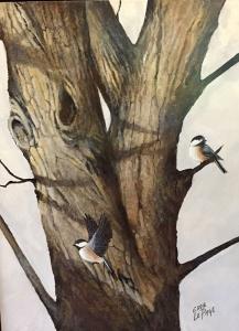 2 Chickadees by Eddie LePage