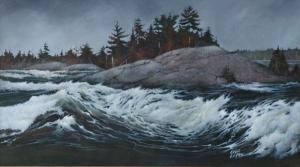 Spring Runoff (Burleigh Falls) by Eddie LePage