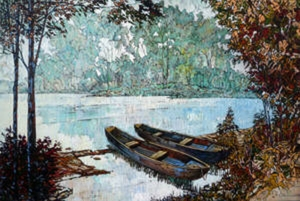 Morning at the Mill Pond by Eduard Gurevich
