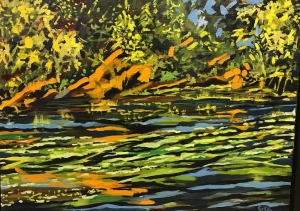 Two Complements Summer Pond by Gavin Mclay