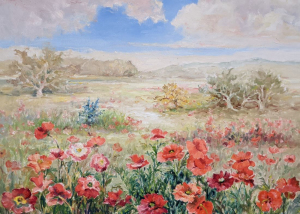 Poppies In The Fields by Guttorn Otto