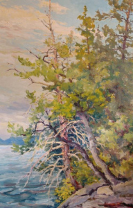Trees On Rocky Shore by Guttorn Otto