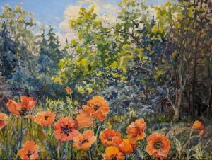 Poppies In Ballantrae by Guttorn Otto