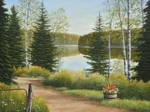 Cottage Lane by Jake Vandenbrink