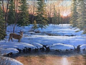 Winter Sunset by Jake Vandenbrink