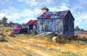Grays Red Truck & Barn (Mountain Grove ON)  by James L. Keirstead