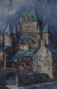 Moonlit Chateau Frontenac by James L. Keirstead
