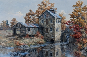 October Mill Reflected by James L. Keirstead