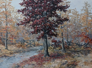Red Maple by the Gate by James L. Keirstead