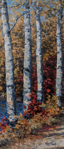 Rugged Birches by James L. Keirstead