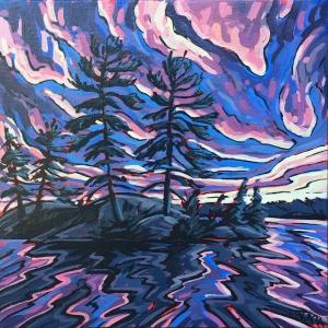 Last Light in the Islands Study by Jenny Kastner