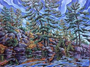 Pompadour Island Pines 11 by Jenny Kastner