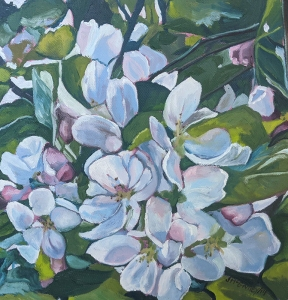 Cherry Blossoms by Joan McGivney