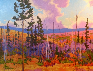 Fiery Forest by John Lennard