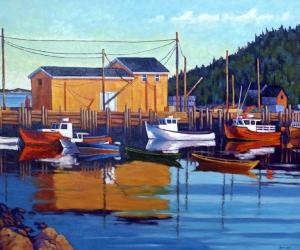 Fishing Boats by John Lennard
