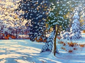 Morning After Heavy Snow by John Lennard