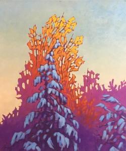 Snow Laden Tree by John Lennard