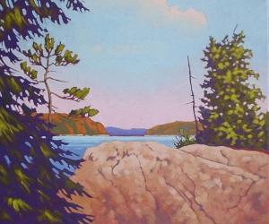 Sun Bathed Rock by John Lennard