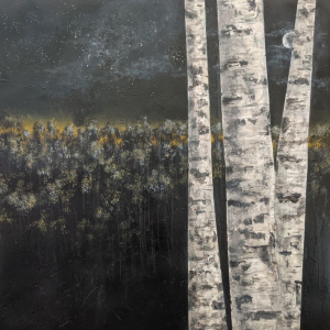 Birch in Valley at Dusk by Larry McGill