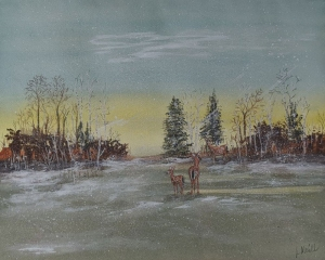Deer in Clearing by Larry McGill