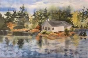 Church on the Rock by Len Harfield