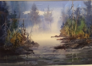 Morning Mist by Len Harfield