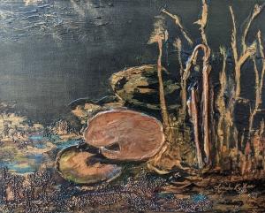 Lily Pond 2 by Linda Coffee