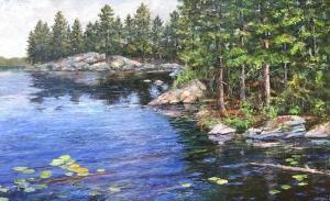 Canadian Shoreline by Lloyd Wilson
