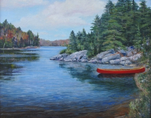 Red Canoe I by Lloyd Wilson
