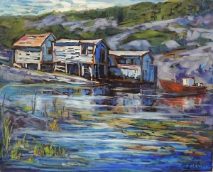 Fish Huts Champney West by Lucy Manley