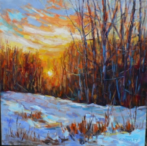 January Sunset by Lucy Manley